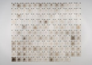 "Image of installed ""Stain"" drawings created from automotive exhaust"